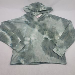 NWOT Pink Lily oversized cropped tie dye hoodie